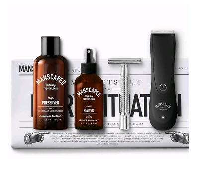 Manscaped Perfect Package 2.0 Men's Hair Grooming & Shaving Kit NEW