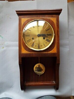 Vintage Fhs German Made Wooden  Wall Clock