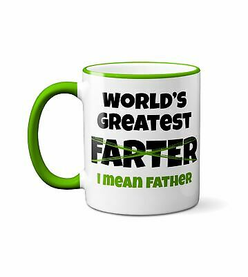 Worlds Greatest Farter I Mean Father Funny DT White Coffee 11 Oz Mug