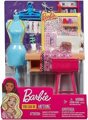 Barbie Career Places Sewing Fashion Designer Playset  Fxp10 *New*