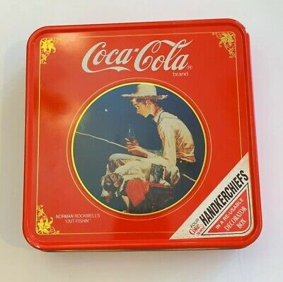 "Coca-Cola Norman Rockwell's ""Out Fishin'"" Tin"