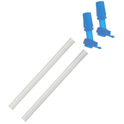 2X Camelbak Eddy Kids Replacement Bite Valves And Straws - Ice Blue (1 Pair)