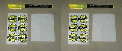Bike Cycle Marking Kit  Security with stickers Ultra Violet UV Pen Property
