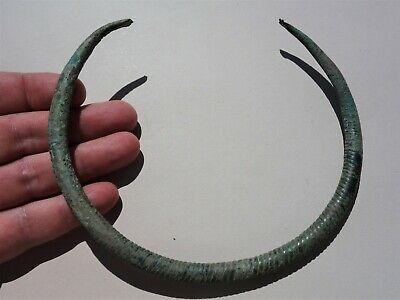 Ancient Celtic Twisted solid Bronze Torque - Neck Torc, Dated -100 B.C. -1 A.D.