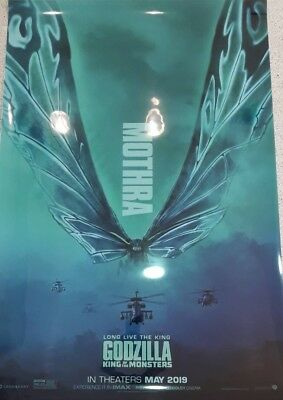 Godzilla: King of the Monsters 2019 movie 27x40 DS LIGHT BOX POSTER MOTHRA