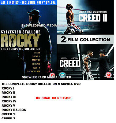 ROCKY CREED COMPLETE COLLECTION MOVIE DVD BOX SET 1 2 3 4 5 6 7 8 Film New UK