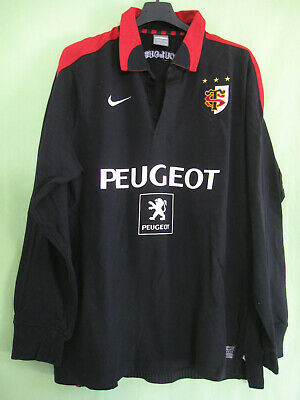 Maillot Rugby Noir Stade Toulousain Peugeot Toulouse ST Nike vintage Jersey - L