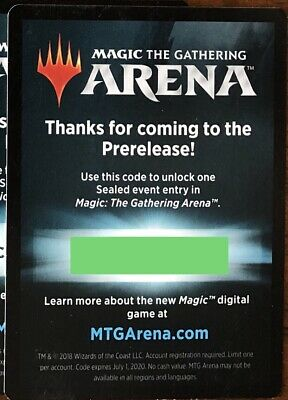 MTG Arena Sealed Event Entry Prerelease Code Magic DOM Guilds Ravnica War EMAIL