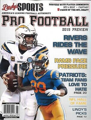 Lindy's Sports 2019 Pro Football Preview (Covers Vary)