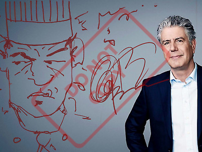 8.5x11 Autographed Signed Reprint RP Photo Anthony Bourdain