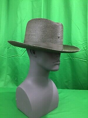 9f3549fd NEW Stratton F42DB Conservation Green Straw Police Sheriff Hat Size 7 3/8 LO