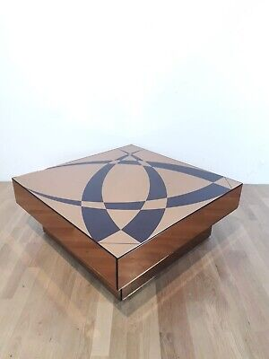 Mirror Coffee Table Design 1970s