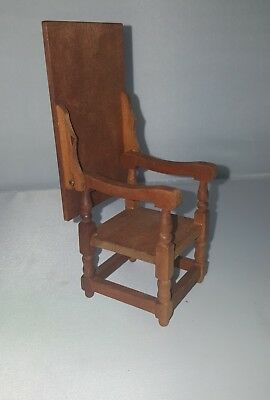 Vintage wood doll house furniture piece chair table Japan 1970