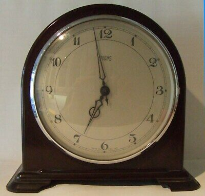 A Vintage 8 Day Smiths Bakelite Mantel Clock - Perfect Condition & Working