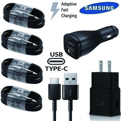 Original Samsung Galaxy S8 S9 Plus Note8 Fast OEM Wall Car Charger Type C CABLE
