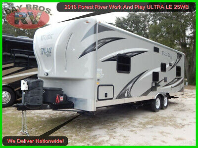 16 Forest River Work And Play ULTRA LE 25WB Toy Hauler Camper RV Trailer Towable