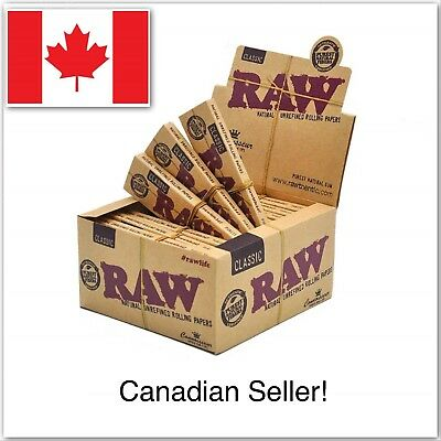 3 Packs Raw Rolling Papers King Size Slim+ Tips Natural Unrefined Rolling Papers