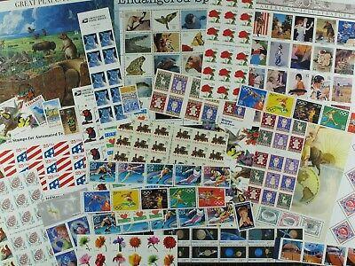 Weeda USA Random Postage Lot of $100 Face Value in mint stamps, full OG, useful!
