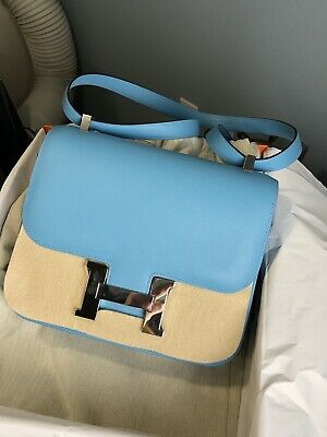 44efa360c7 NEW Hermes Constance III 24 Bleu Du Nord in Veau Leather (Palladium hardware