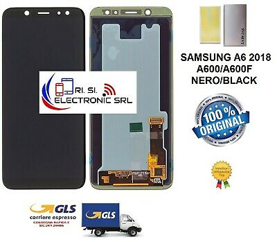 Lcd Display (Amoled) Di Ricambio Originale Samsung A6 2018 A600F Nero/Black Gh97
