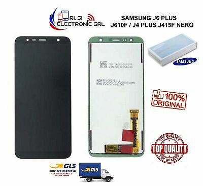 Lcd Display (Amoled) Di Ricambio Originale Samsung J6 Plus J610F/J4 Plus J415F N