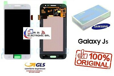 Lcd Display (Amoled) Di Ricambio Originale Samsung J5 2015 J500F Bianco Gh97-176