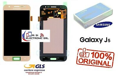 Lcd Display (Amoled) Di Ricambio Originale Samsung J5 2015 J500F Gold Gh97-17667