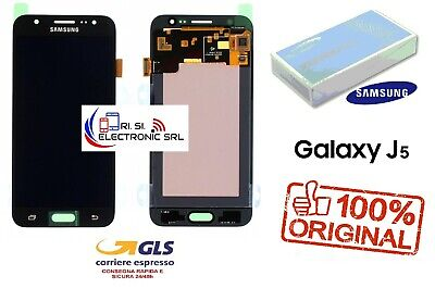 Lcd Display (Amoled) Di Ricambio Originale Samsung J5 2015 J500F Nero Gh97-17667