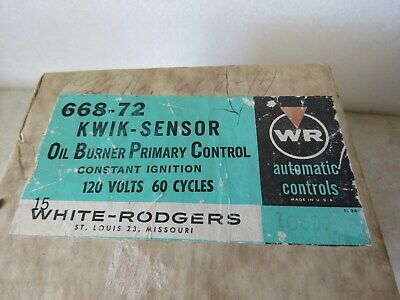 White Rodgers 668-72 Kwik-Sensor Oil Burner Control In The Box & Never Been Used
