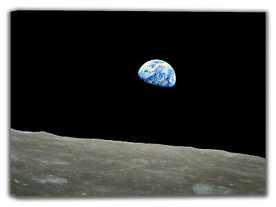 Earth From the Moon. Space Canvas