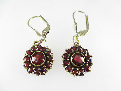 925 Sterling Silber Ohrringe Granat Edelsteine Ohrstecker garnet earrings
