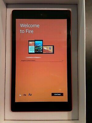 """Amazon Fire HD 8 With Alexa 32GB, Wi-Fi, Orange 8"""" Tablet - Excellent Condition"""