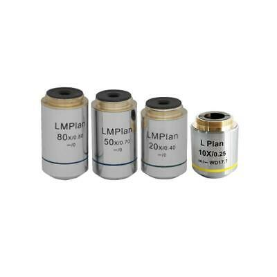Infinity Plan Long WD Achromatic Metallurgical Microscope Objective Lens Set