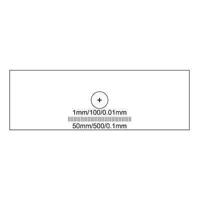 Microscope Stage Calibration Slide, Dual Axis Cross Line Target 1mm/100/0.01mm