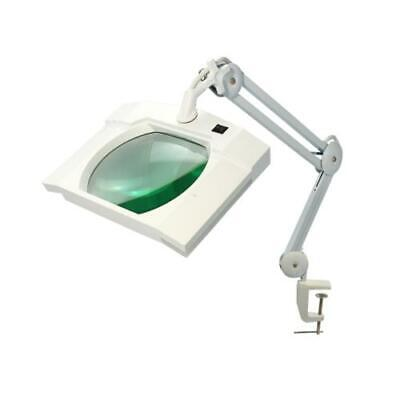 SMD LED Magnifying Lamp with Clamp, 5 Diopter, Square Head