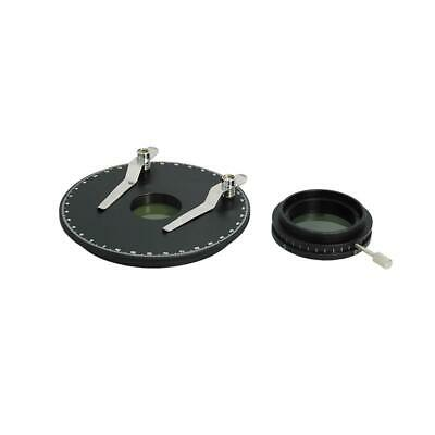 Simple Rotating Polarizer Kit for Microscope, with Stage Plate + Clips