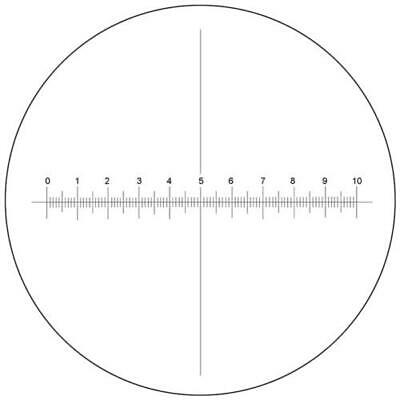 Microscope Eyepiece Reticle Cross Line Micrometer Ruler X-Axis Crosshair 20mm