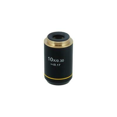 10X Infinity Achromatic Microscope Objective Lens Working Distance 6.75mm