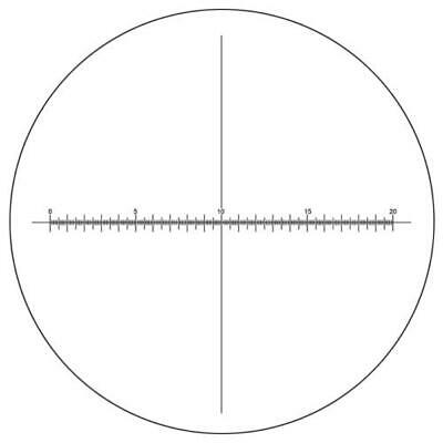 Microscope Eyepiece Reticle Cross Line Micrometer Ruler X-Axis Crosshair 27mm/20