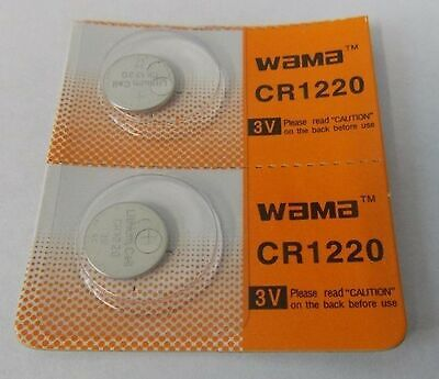 Wama CR1220 3V Lithium Coin Cell Battery (2 Batteries)