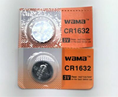 Wama CR1632 3V Lithium Coin Cell Battery (2 Batteries)