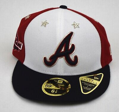 wholesale dealer f82b7 53ad2 New Era Atlanta Braves MLB All Star Game On Field 59Fifty Hat Sz 6 and 7