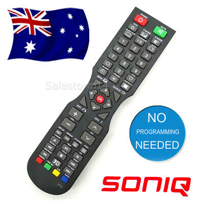 NEW SONIQ TV Remote Control (QT166, QT155, QT155S) QT1D - NO SETUP NEEDED