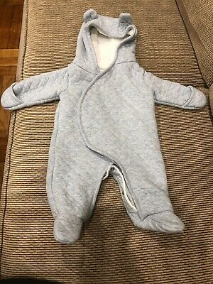 b5b45e4d4 CARTER'S Unisex Size Newborn Quilted Hooded Bunting Snowsuit Grey