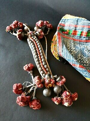 Old Rajasthani Ankle Beaded Silver Bangle (b.) …beautiful collection piece