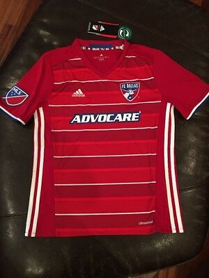 Adidas FC Dallas 2015-16 Home Jersey, Size Youth Large (13-14 Years)