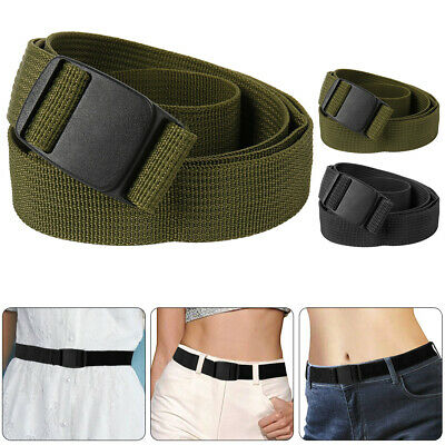 Mens Nylon Belt Heavy Duty Adjustable Strap Military Style Outdoor Waistband AU