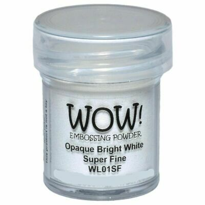 WOW Embossing Powder - OPAQUE BRIGHT WHITE - SUPER FINE 160ml LARGE JAR!