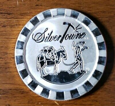 """1oz .999 SILVER ROUND - SILVERTOWNE """"POKER CHIP"""" STACKABLE"""