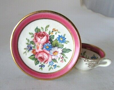 Antique Collectable Dresden German Miniature Doll Size Porcelain Cup and Saucer